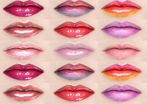 Lip Gloss PSD Brushes