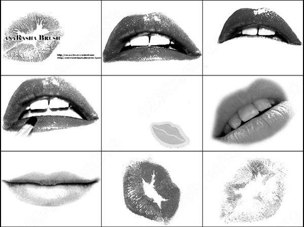 free photoshop lips brushes