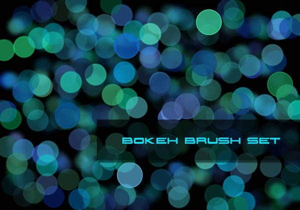 colorful bokeh brushes