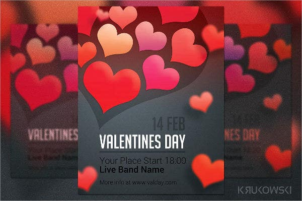 valentines day vector poster