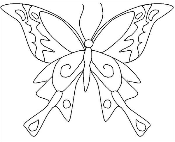 Children's Butterfly Coloring Page