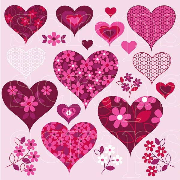 valentines day heart textures
