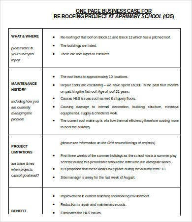 Business case template word 9 free word documents download one page business case template in word wajeb