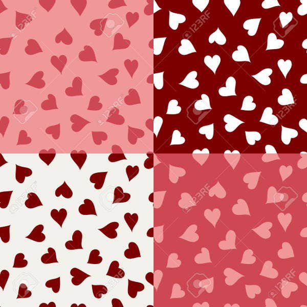seamless valentines day textures
