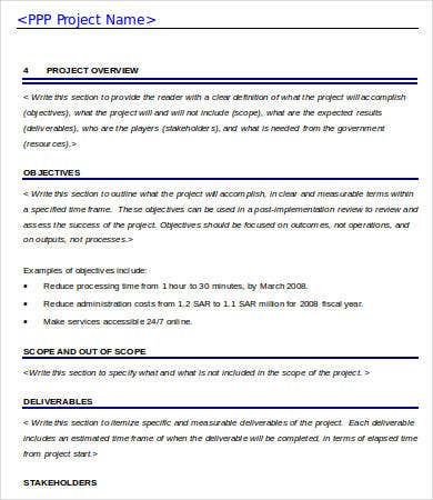 sample project business case template word