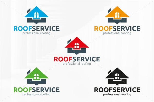 Roof Service Logo Template