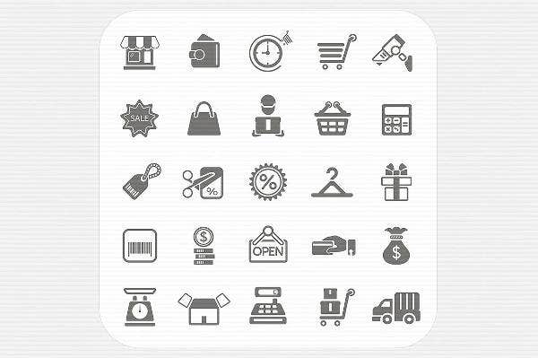 Shopping and Finance Icons Set