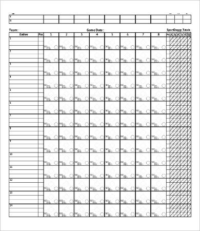 photograph relating to Printable Softball Score Sheets known as 11+ Softball Ranking Sheet Templates - PDF, Document Absolutely free