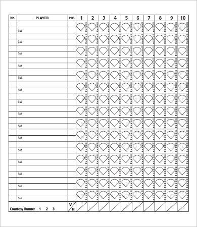 graphic about Printable Softball Score Sheets named 11+ Softball Rating Sheet Templates - PDF, Document Free of charge
