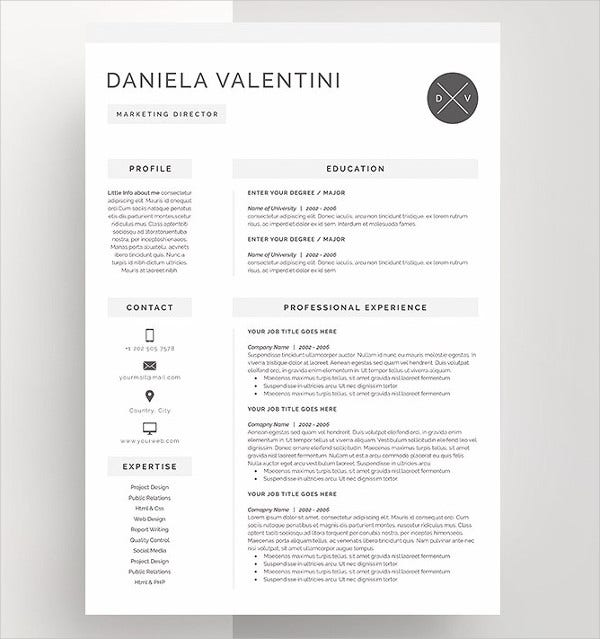 unique resumes free psd word pdf document