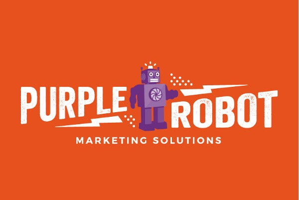 Purple Robot Logo Design