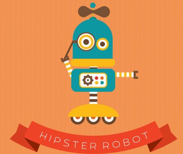 Hipster Robot Logo