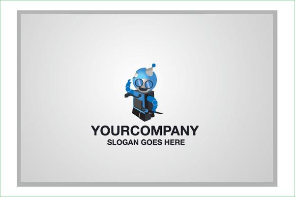 Free Designer Robot Logo Template