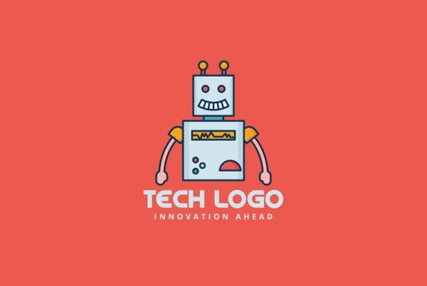 Fee Robot logo on a red background