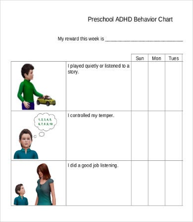 free printable preschool behavior chart