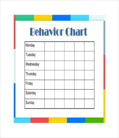 photo regarding Free Printable Sticker Chart referred to as No cost Printable Habits Chart - 8+ No cost PDF Files
