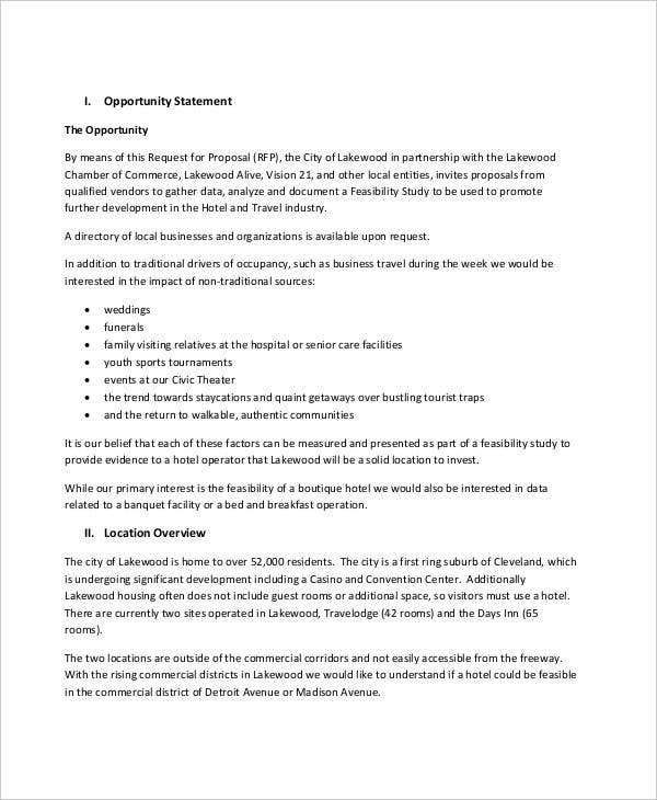 Feasibility Analysis Templates 8 Free Word Pdf Documents