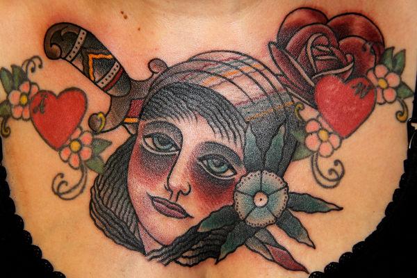 Feminine Traditional Tattoo