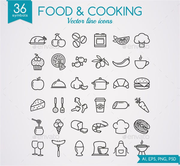 Food and Cooking Icons
