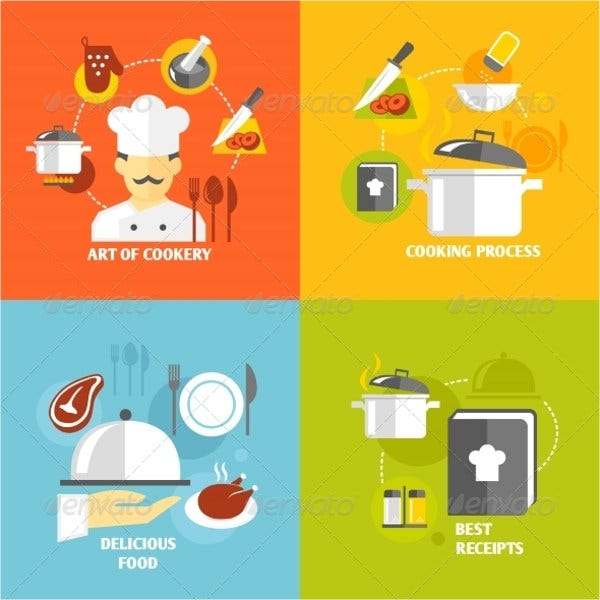 Flat Cooking Icons