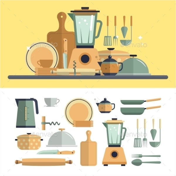 cooking utensils icons