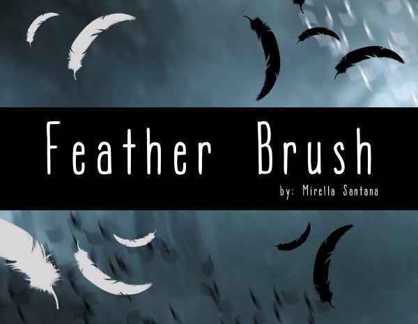 Creative Feather Brushes