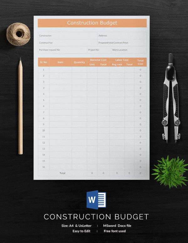 15+ Free Budget Templates - Financial, Market, Household | Free