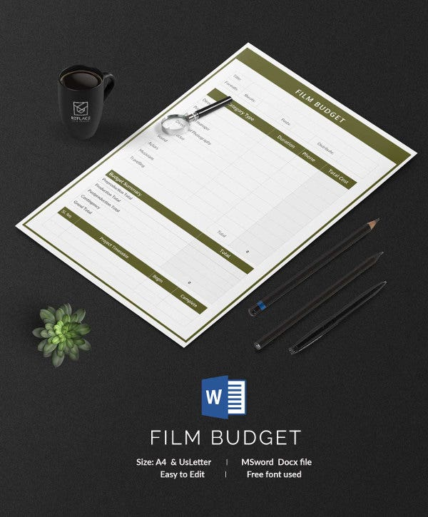 Film Budget Template