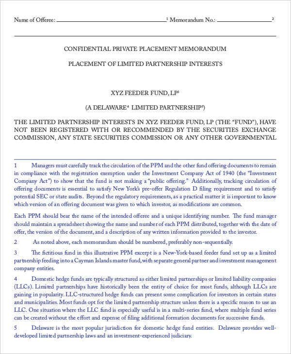 private placement memos Private Placement Memorandum - 10  Free PDF Documents Download ...