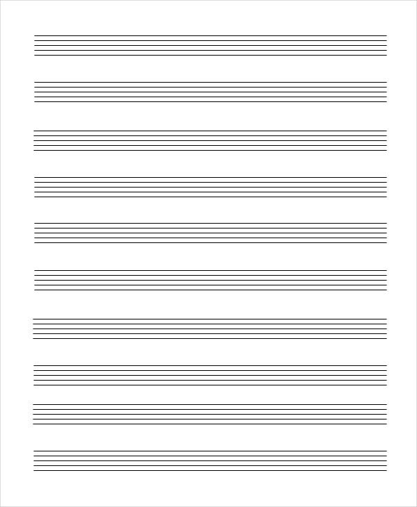 music ledger paper