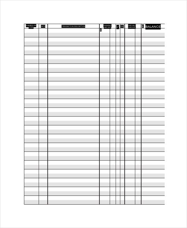blank ledger paper template