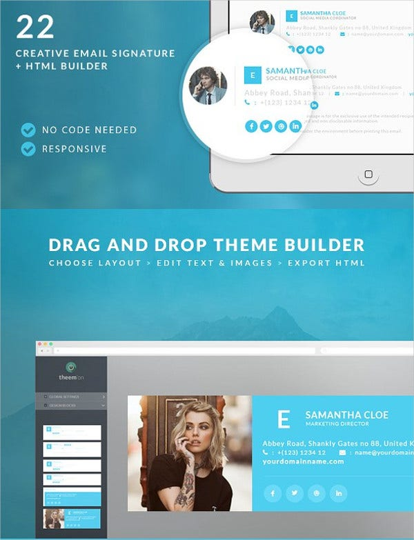 Responsive Email Signature Template
