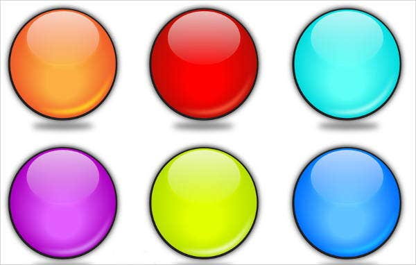 10 rounded buttons psd eps vector format download for Design a button template free