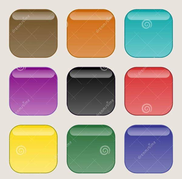 rounded edge square buttons