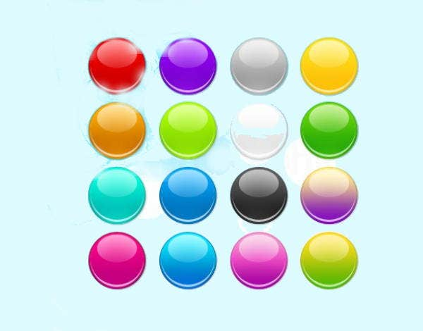 colorful rounded web buttons