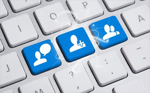 3d social media button
