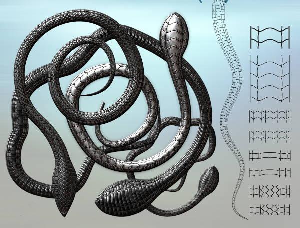 black snake brush photoshop1
