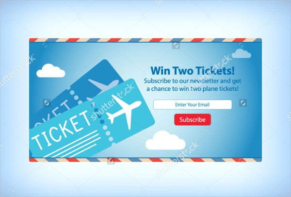 Airplane Ticket Mockup