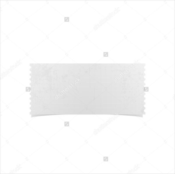 Blank Realistic Ticket Mockup