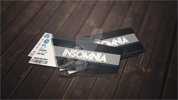 Insomnia Ticket Mockup