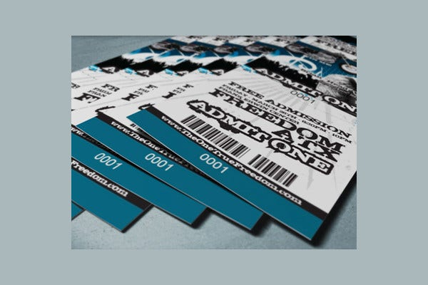 Photorealistic Ticket Mockup