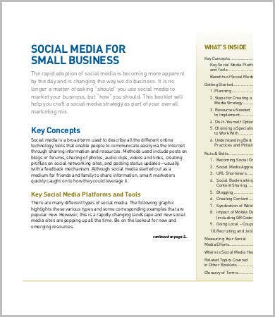 social media business proposal