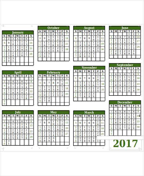 10+ Planning Calendar Template - 10+ Free Word, Pdf Format
