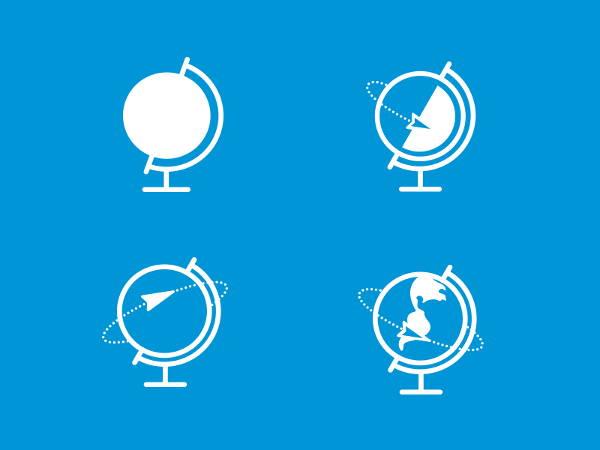 flat-globe-icons