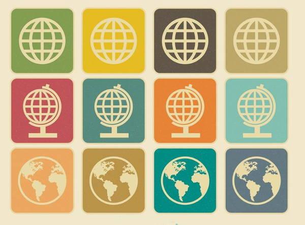 vintage-globe-icons