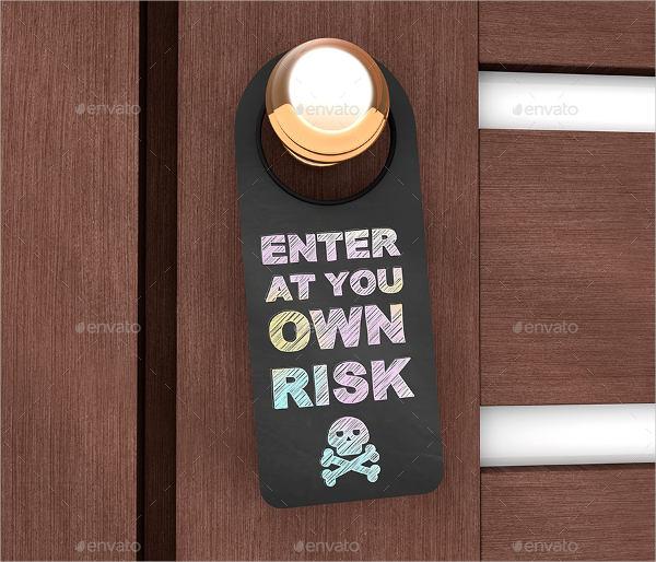 Chalkboard Door Hanger Mockup