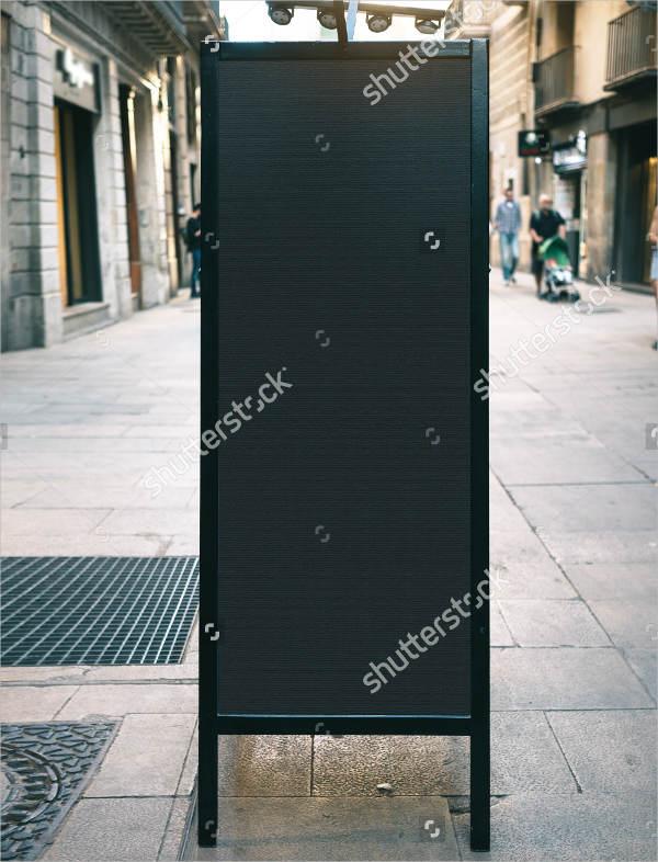 Street Chalkboard Mockup