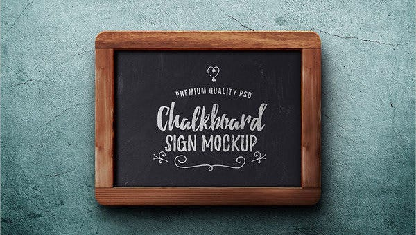 chalkboard mockups