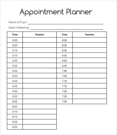 Hourly Appointment Planner  BesikEightyCo