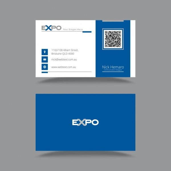 elegant-blue-business-card